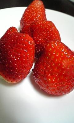 苺を4個食べると