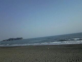 辻堂海岸にて。
